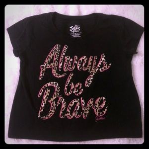 Justice girls size 8 cheetah print T-shirt